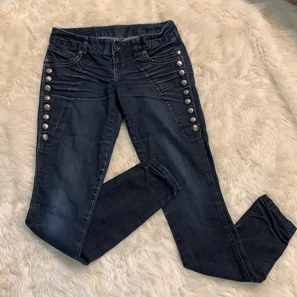 Express Skinny Jeans Snap Sides